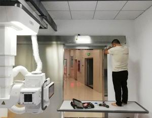 我司为泸州市叙永县安民医院安装成都防辐射门